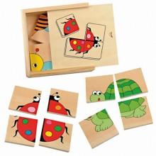 WOODYLAND 90328 Mini puzzle - owady