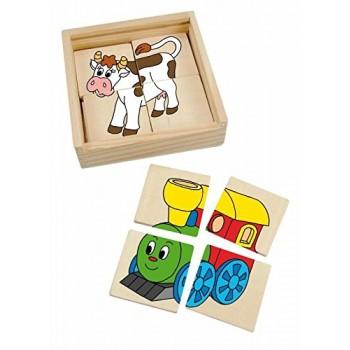 WOODYLAND 93003 Mini puzzle - szczęśliwa maszyna