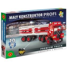 Alexander - 6345 - Klocki konstrukcyjne - Mały Konstruktor Profi - Ciężarówka z naczepą 10w1