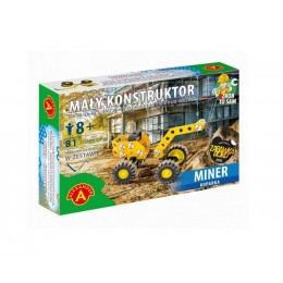 Alexander - Klocki konstrukcyjne - Mały Konstruktor - Koparka Miner - 5584