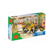 Alexander - Klocki konstrukcyjne - Mały Konstruktor - Motorower Sting - 5607
