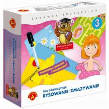 Alexander - Zestaw edukacyjny Pisanie - Zmazywanie dla dziewczynek - 7381