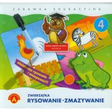 Alexander - Zestaw edukacyjny Pisanie - Zmazywanie Zwierzątka - 7411