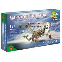 Alexander - Klocki Konstrukcyjne - Mały Konstruktor - Samolot - 1036