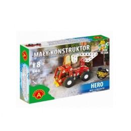 Alexander - Klocki konstrukcyjne - Mały Konstruktor - Wóz strażacki Hero -5553
