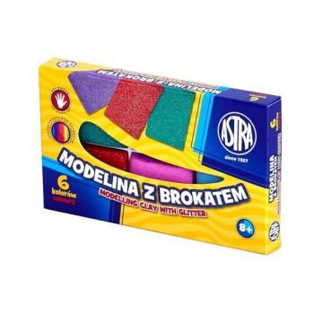 Astra – Modelina 6 kolorów – Brokatowa – 0162