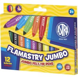 Astra - Flamastry Jumbo 12 kolorów - 0419