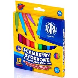 Astra - Flamastry stożkowe 12 kolorów - 0426