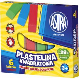 Astra - Plastelina kwadratowa 6 kolorów - 0521