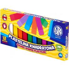 Astra - Plastelina kwadratowa 12 kolorów - 0538