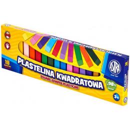 Astra - Plastelina kwadratowa 18 kolorów - 0545