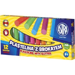 Astra - Plastelina z brokatem 12 kolorów - 0637