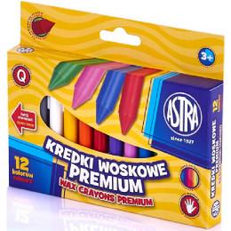 Astra - Kredki woskowe 12 kolorów - 0719