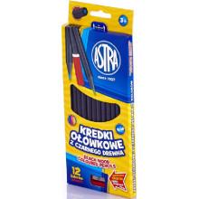 Astra - Kredki ołówkowe z czarnego drewna - 1006