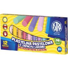 Astra - Plastelina pastelowa zapachowa 12 kolorów - 1276