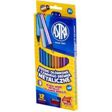 Astra - Kredki ołówkowe metaliczne - 1600