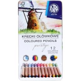 Astra - Kredki Ołówkowe w metalowym opakowaniu 12 kolorów - 1903