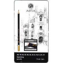 Astra Artea - Zestaw ołówków do szkicowania - 4443