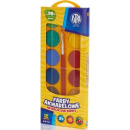 Astra - Farby akwarelowe 12 kolorów   - 6128