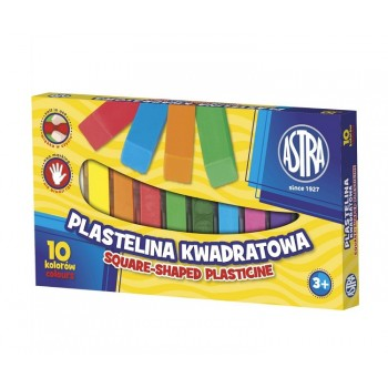 Astra – Plastelina kwadratowa 10 kolorów – 7498