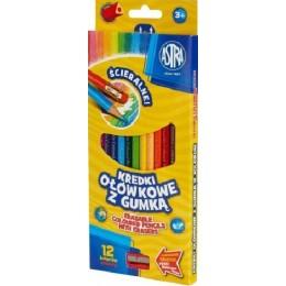 Astra - Kredki ołówkowe z gumką - 8214