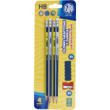 Astra - Ołówki grafitowe z gumką - 9067