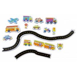 Alex Toys 804W Zabawki do wody - Piankowe Puzzle Naklejki - Pojazdy