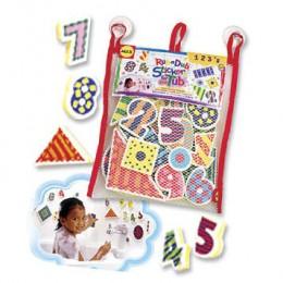 Alex Toys 632 Piankowe Puzzle Naklejki - Cyferki