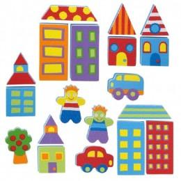 Alex Toys 803 Piankowe Puzzle Naklejki - Miasto