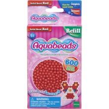 Aquabeads - Wodne Koraliki - Zestaw uzupełniający 600 szt - czerwone 32508
