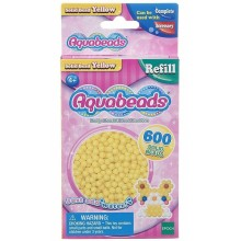 Aquabeads - Wodne Koraliki - Zestaw uzupełniający 600 szt. - żółte 32528