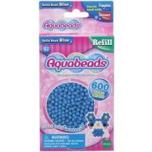 Aquabeads - Wodne Koraliki - Zestaw uzupełniający 600 szt. - niebieskie 32568
