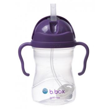 B.Box - Bidon niekapek z obciążoną słomką - Kolor winogronowy 00504
