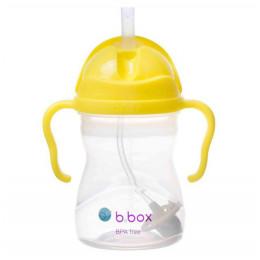 B.Box - Bidon niekapek z dociążoną słomką - Kolor cytrynowy 00507