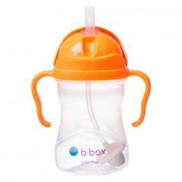 B.Box - Bidon niekapek z obciążoną słomką - Kolor pomarańczowy 00509