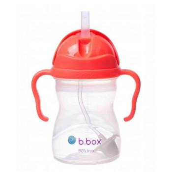 B.Box - Bidon niekapek z obciążoną słomką - Kolor arbuzowy 00510