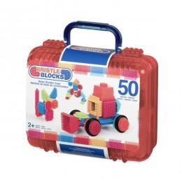B.TOYS 3081 Elastyczne Klocki Jeżyki Bristle Blocks Walizka 50 el