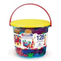B.Toys - Klocki Jeżyki - Dżungla - Zestaw w wiaderku 128el. 3088Z