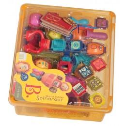 B.Toys - Klocki Jeżyki z buźkami - Zestaw Spinaroos BX1040