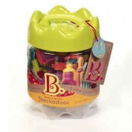 B.Toys - Elastyczne Klocki Jeżyki - Słoik Stackadoos BX1175