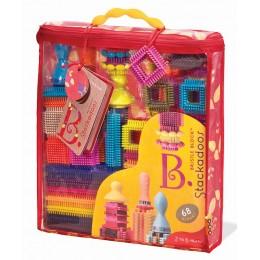 B.Toys – Klocki jeżyki w torbie - Zestaw Stackadoos 68el. BX1039