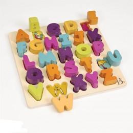 B.TOYS - Puzzle drewniane - Literki alfabetu - BX1269