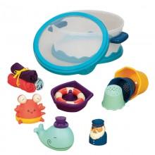B.Toys Zestaw do kąpieli z zabawkami - niebieski BX1387