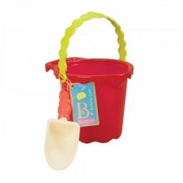 B.Toys BX1430 Czerwone wiaderko i łopatka