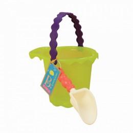 B.Toys Limonkowe wiaderko i łopatka BX1432