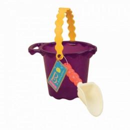 B.Toys BX1433 Fioletowe wiaderko i łopatka