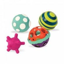 B.TOYS BX1462 Zestaw 4 piłek sensorycznych Ball-a-ballos