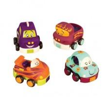 B.Toys - Miękkie autka Wheeee-Is - Czteropak samochodzików BX1480