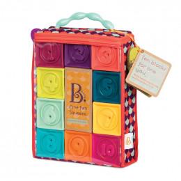 B.Toys - Miękkie klocki gumowe 10el. - One Two squeeze BX1481