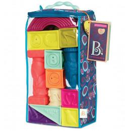 B.Toys - Miękkie klocki gumowe 26el. - Elemenosqueeze BX1482